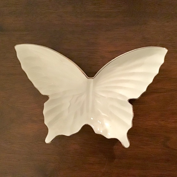 Lefton Other - Lefton Bone China Butterfly Trinket Dish